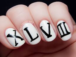 super bowl xlviii chalkboard nails nail art blog