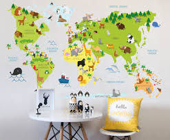 World Map Decal by Playful Decals For Children U2013 Your Decal Shop Nz Designer Wall