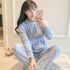Sweater Pajamas Japanese Style Autumn And Winter Sweater Pajamas Suit