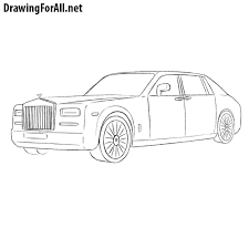 cartoon rolls royce how to draw a rolls royce phantom drawingforall net