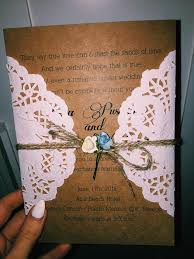vintage lace paper flower wedding invites ewls054 as low as 1 79