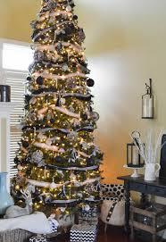 black white u0026 burlap christmas tree decorations hometalk