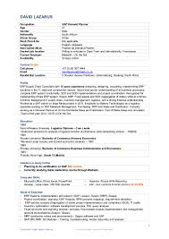 Sap Mm Resume Sample For Freshers by Useful Resume Of A Sap Business Analyst About Sample Resume For