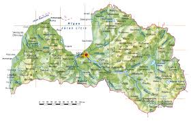 Topographical Map Of Usa by Topographical Map Of Latvia Latvia Topographical Map Vidiani