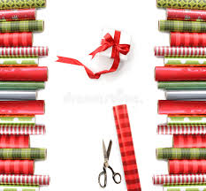 rolls of wrapping paper rolls of colored wrapping paper on white stock photo image of