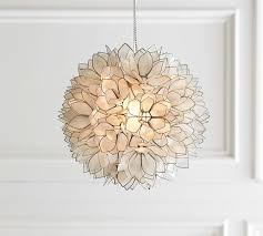 Pottery Barn Ceiling Light Capiz Pendant Pottery Barn