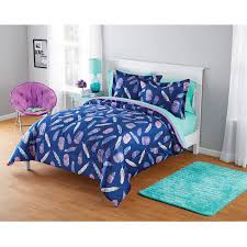 Featherbedding Your Zone Micromink Inky Feather Comforter Set Walmart Com