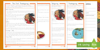the thanksgiving differentiated reading comprehension