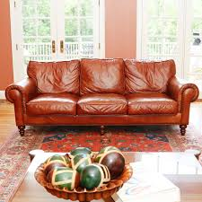 Henredon Leather Sofa Henredon Leather Sofa Ebth