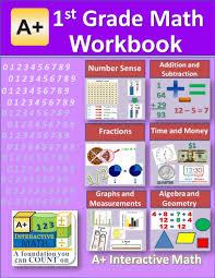 amazon com 1st grade math workbook pdf on cd worksheets tests