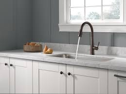 Touch Control Kitchen Faucet by Delta Essa Single Handle Pull Down Standard Kitchen Faucet With