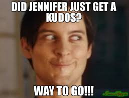 Jennifer Meme - did jennifer just get a kudos way to go meme spiderman peter