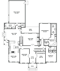 simple 5 bedroom house plans fascinating 5 bedroom one story house plans contemporary best