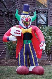 Halloween Outdoor Inflatables by Amazon Com 8 Ft Free Candy Killer Clown Halloween Airblown