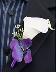 calla boutonniere set of 6 real touch quality calla boutonniere