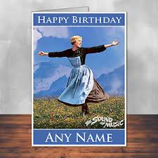 the sound of music birthday card personalised with envelope ebay