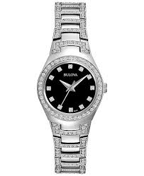 crystal bracelet watches images Bulova women 39 s crystal stainless steel bracelet watch 25mm 96l170 tif