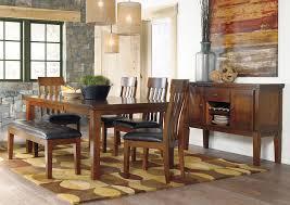 majek furniture ralene rectangular extension table w 4 upholstered