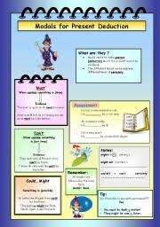 english exercises modals for deduction
