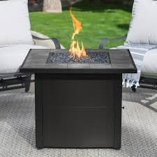 Propane Outdoor Fire Pit Table Uniflame Ceramic Tile Propane Fire Pit Slate Hayneedle
