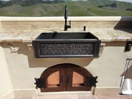Outdoor Kitchen Faucets Furniture Exciting Elkay Sinks With Graff Faucets For Modern