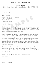 sample thank you letter letters pinterest job interviews