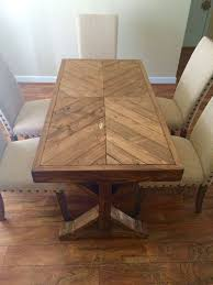 Diy Wood Dining Table Top by Best 25 Chevron Table Ideas On Pinterest Chevron Coffee Tables