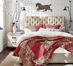 Pottery Barn Delivery Phone Number Chesterfield Upholstered Bed U0026 Headboard Pottery Barn