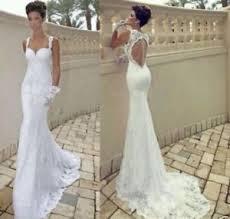 backless wedding dresses white ivory lace mermaid backless wedding dress bridal gown