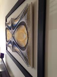 string art home décor wall art original geometric design handmade