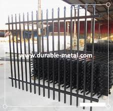 commercial powder coated ornamental steel fence durable metal
