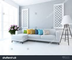 white room sofa living room interior stock illustration 554657065