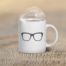 mug design for him coffee mug glasses hipster custom mug design mugs for him