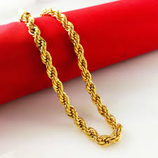 2015 men s jewelry 8mm 60cm new arrival gagafeel fashion jewelry vacuum plated gold color necklaces chian