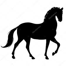 mustang horse silhouette black horse silhouette u2014 stock photo tcheres 97655034