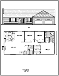 bedroom ranch moreover a great house plans with rear view on 2