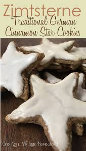 zimtsterne traditional german cinnamon star cookie one acre