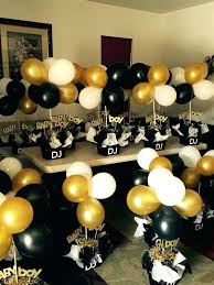 graduation center pieces black white and gold birthday party decorations best ideas on