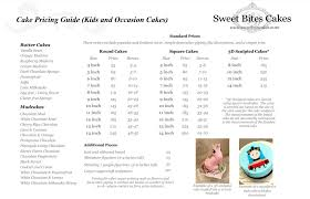 sweet bites cakes cake flavours and pricing