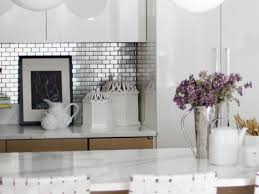 mosaic tile backsplash kitchen white marble with gray veins iridescent mosaic tile backsplash