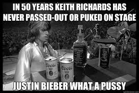 Keith Richards Memes - in 50 years keith richards has never passed out or puked on stage