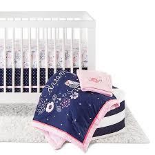 Circo Girls Bedding by Circo 4pc Crib Bedding Set Navy N U0027 Pink Target Nurseries