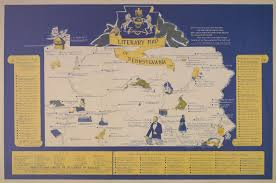 Map Pennsylvania by The Pennsylvania Center For The Book Literary And Cultural