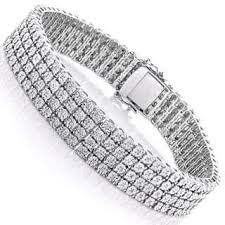 sterling silver bracelet with diamond images Sterling silver diamond bracelets for less jpg