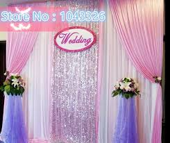 wedding backdrop sign 3 3m 3 6m luxury white silver sequined cloth swag sign wedding