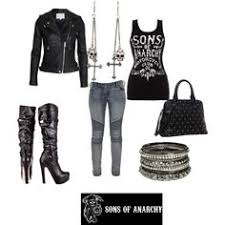 Sons Anarchy Halloween Costumes 1950 U0027s Biker Agentmanklow Polyvore Featuring Rag