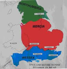 York England Map England In The Time Of King Alfred U0027s Father