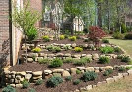 Retention Pond In Backyard Stacked Flower Bed Tiered Landscaping With Dry Stacked Retention