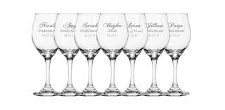 wedding gift engraving ideas personalized wine glasses favours wedding and wedding