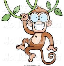 monkey on vine clipart 34